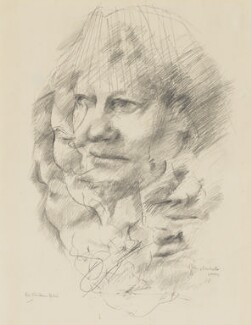 Iris Murdoch, by Tom Phillips, 1985 - NPG 5944(5) - © DACS / Tom Phillips 2017