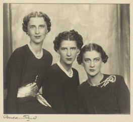 The three daughters of Prince and Princess Nicholas of Greece and Denmark, by Bertram Park, 1938 - NPG  - © estate of Bertram Park / Camera Press
