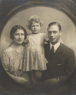 Queen Elizabeth, the Queen Mother; Queen Elizabeth II; King George VI, by Marcus Adams - NPG P140(9)