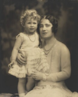 Queen Elizabeth II; Queen Elizabeth, the Queen Mother, by Marcus Adams, 5 July 1928 - NPG P140(10) - © estate of Marcus Adams / Camera Press