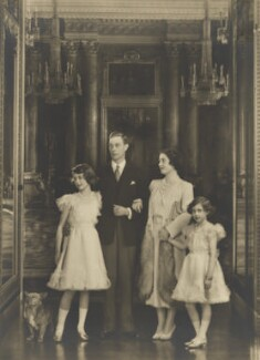 Queen Elizabeth II; King George VI; Queen Elizabeth, the Queen Mother; Princess Margaret, by Marcus Adams - NPG P140(13)