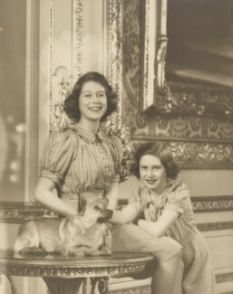 Queen Elizabeth II; Princess Margaret, by Marcus Adams - NPG P140(17)