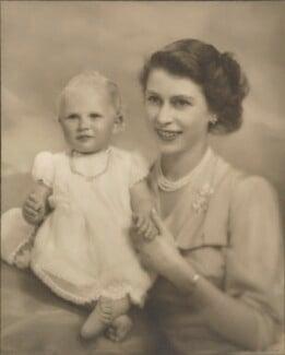 Princess Anne; Queen Elizabeth II, by Marcus Adams - NPG P140(24)