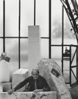 Henry Moore, by Arnold Newman - NPG P150(25)