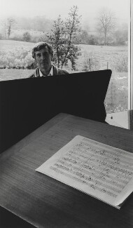Sir Michael Kemp Tippett, by Arnold Newman - NPG P150(36)