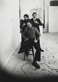Photographers (David Bailey; Brian Duffy; Terence Donovan), by Arnold Newman - NPG P150(45)