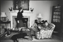 Elizabeth Hester Douglas-Home, Baroness Home of the Hirsel; Alec Douglas-Home, by Eve Arnold - NPG P522