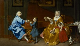 The Shudi Family Group, by Marcus Tuscher, circa 1742 - NPG  - © National Portrait Gallery, London