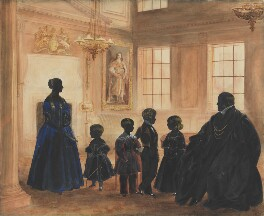 George Hudson and his family, by Unknown artist, probably associated with Hubard Gallery, possibly by  E G A Norman - NPG 5886