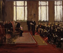 Opening of the Lord Duveen Annexe to the National Portrait Gallery, by Sir John Lavery - NPG 5943