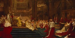 The Homage-Giving: Westminster Abbey, 9th August, 1902, by John Henry Frederick Bacon - NPG 6058