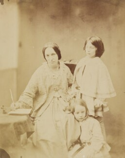 Julia Margaret Cameron with her two children, Henry Herschel Hay and Charlie Hay, by Unknown photographer, 1857-1858 -NPG P148 - © National Portrait Gallery, London