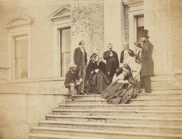 Visitors to Broadlands, 1859, possibly by Graham Vivian, 1859 - NPG P153 - © National Portrait Gallery, London