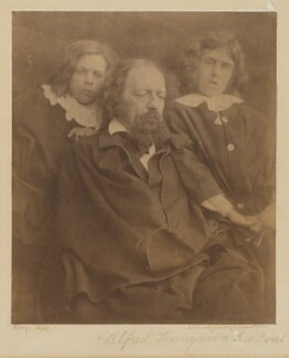 Tennyson and his sons, by Julia Margaret Cameron - NPG P285