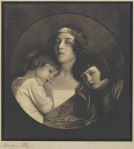 Clare Sheridan with her children, by Bertram Park - NPG P333