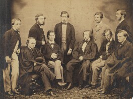 Algernon Charles Swinburne with nine of his peers at Oxford, by Unknown photographer, circa 1859-1860 - NPG P416 - © National Portrait Gallery, London