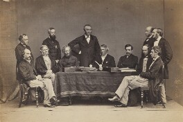 The Supreme Indian Council, Simla, 1864, by Bourne & Shepherd - NPG P426