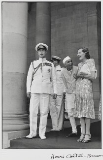 Louis Mountbatten, Earl Mountbatten of Burma; Jawaharlal Nehru; Edwina Cynthia Annette, Countess Mountbatten of Burma, by Henri Cartier-Bresson - NPG P434
