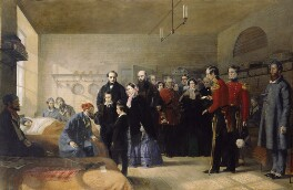 Queen Victoria's First Visit to her Wounded Soldiers, by Jerry Barrett, 1856 - NPG  - © National Portrait Gallery, London