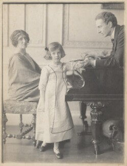 Lady Ottoline Morrell, with Philip Edward Morrell and their daughter, Julian Vinogradoff (née Morrell), by Cavendish Morton - NPG P480