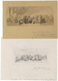 'Two sketches for 'Men of Science Living in 1807-8', by Sir John Gilbert - NPG 1383a