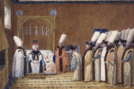 The Audience of the Grand Signor (A Sultan of Turkey receiving a British Ambassador), by Unknown artist - NPG 3797