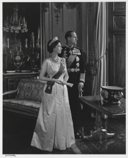 Queen Elizabeth II; Prince Philip, Duke of Edinburgh, by Yousuf Karsh, 1966 - NPG  - © Karsh / Camera Press