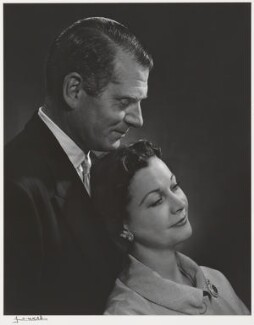 Laurence Olivier; Vivien Leigh, by Yousuf Karsh - NPG P490(60)