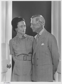 Wallis, Duchess of Windsor; Prince Edward, Duke of Windsor (King Edward VIII), by Yousuf Karsh, 1971 - NPG P490(89) - © Karsh / Camera Press