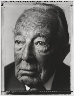 Hartley William Shawcross, Baron Shawcross, by Nick Sinclair - NPG P510(37)