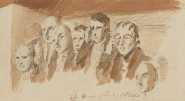 Group of eight unknown sitters for the right niche, by Sir George Hayter - NPG 1695(x)