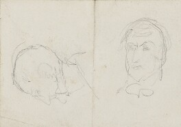 Two heads, by Charles West Cope - NPG 3182(13)