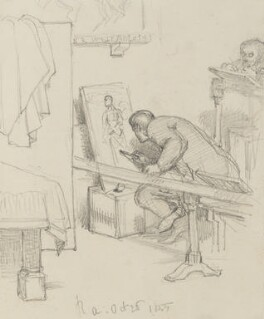 Two unknown art students at work, by Charles West Cope - NPG 3182(17)