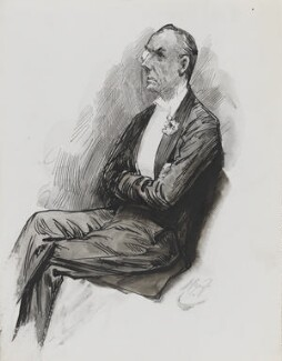 Joe Chamberlain, by Harry Furniss, 1880s-1900s - NPG 3348 - © National Portrait Gallery, London