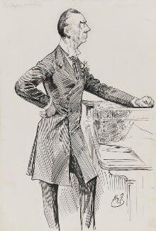 Joe Chamberlain, by Harry Furniss, 1880s-1900s - NPG 3349 - © National Portrait Gallery, London