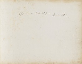 Inscriptions by Clementina Partridge, by Clementina Sarah Partridge (née Campbell) - NPG 3944(1)