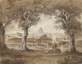 St Peter's, Rome, attributed to Sir Charles Lock Eastlake, 1825 - NPG  - © National Portrait Gallery, London