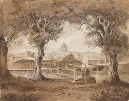 St Peter's, Rome, attributed to Sir Charles Lock Eastlake, 1825 - NPG  - © National Portrait Gallery, London