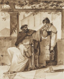 Monk with Neapolitan woman, possibly by Thomas Uwins - NPG 3944(10)