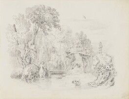 River scene, attributed to John Partridge - NPG 3944(12)