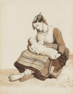 Neapolitan mother and child, possibly by Sir Charles Lock Eastlake - NPG 3944(25)