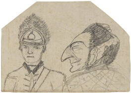 Grenadier Officer and an unknown French gentleman, by George Townshend, 4th Viscount and 1st Marquess Townshend - NPG 4855(20)