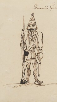Hanoverian Grenadier, by George Townshend, 4th Viscount and 1st Marquess Townshend - NPG 4855(40)