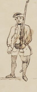 Militia soldier, by George Townshend, 4th Viscount and 1st Marquess Townshend - NPG 4855(63)