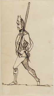 Militia soldier, by George Townshend, 4th Viscount and 1st Marquess Townshend - NPG 4855(64)