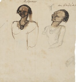 Two squaws and an Indian, by George Townshend, 4th Viscount and 1st Marquess Townshend - NPG 4855(71)