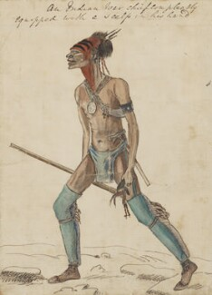 An Indian War chief completely equipped with a scalp in his hand, by George Townshend, 4th Viscount and 1st Marquess Townshend - NPG 4855(73)