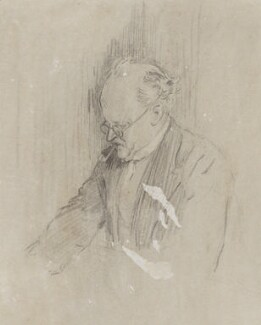Sir Edwin Lutyens, by Sir (John) Bernard Partridge, study for Punch 20 July 1927 - NPG 3664a - Reproduced with permission of Punch Ltd
