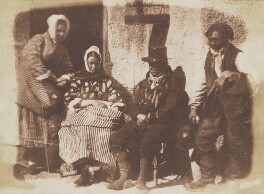 Mrs Logan, Mrs Seton and two unknown fishermen, by David Octavius Hill, and  Robert Adamson - NPG P6(185)