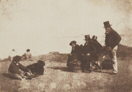 Fishermen, by David Octavius Hill, and  Robert Adamson - NPG P6(186)